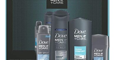 Dove Men+Care Limited Edition Men's Holiday Grooming Gift Pack Clean Comfort Body Wash, Antiperspirant, Shampoo+conditioner, and Dry Spray Antiperspirant 4 Count