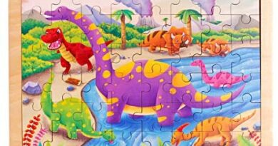 48 Piece Dinosaur World Puzzles for Toddlers 2-4 Year Old Wooden Jigsaw Puzzles for Kids Ages 3-5 Boys and Girls Gifts with Storage Bag and Puzzle Stand