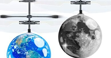 AMENON 2 Pack Flying Ball Kids Toys, Mini Drone Earth Moon RC Flying Toy Hand or Remote Control Helicopter Infrared Induction Holiday Xmas Gift Toy for Boys Girls RC Flying Light Up Toy Indoor Outdoor