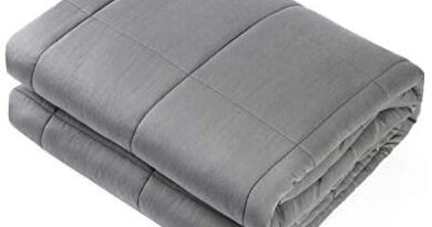 """Adult Weighted Blanket Queen Size(15lbs 60""""x80"""") Heavy Blanket with Premium Glass Beads, (Dark Grey) Waowoo"""