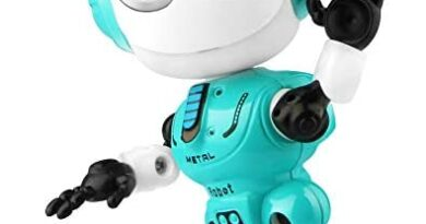 Betheaces Rechargeable Talking Robots Toys for Kids - Metal Robot Kit with Sound & Touch Sensitive Led Eyes Flexible Body, Interactive Educational Gift Toys for 3 4 5 6 7 Year Old Boys, Girls