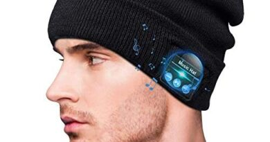 Bluetooth Beanie, Advanced Bluetooth 5.0 Wireless Beanie Music Hat with Headphones & Speakers, Bluetooth Beanie Hat for Men Women, for Dad for Him Christmas Thanksgiving Birthday