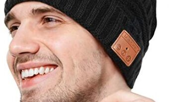 Bluetooth Beanie Gifts for Men and Women, Upgraded Bluetooth 5.0 Music Hat, Wireless Headphone Built-in HD Stereo Speakers with Rechargeable USB,Bluetooth hat for Winter Outdoor Sports