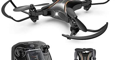 DROCON Foldable Mini RC Drone for Kids, Portable Pocket Quadcopter with Altitude Hold Mode, 3D Flips, Headless Mode, One-Key Take-Off/Landing, Easy to Fly for Beginners and Makes a Great Gift