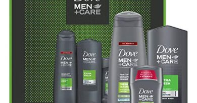 Dove Men+Care Limited Edition Men's Holiday Grooming Gift Pack Extra Fresh Body Wash, Antiperspirant, and Shampoo+conditioner 3 Count