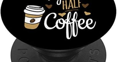 Half Coffee Half Xray Tech Gift, Rad Tech PopSockets PopGrip: Swappable Grip for Phones & Tablets