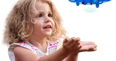 Hand Operated Drone for Kids & Adults - Easy to Play with Hands Free Flying Toy - Unique Stocking Stuffer Idea for Christmas 2020, Best Boys & Girls Birthday Present - Top Teens & Tweens Gift