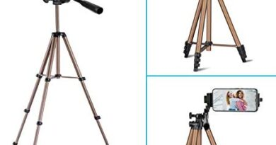 Ipad Tripod Stand,Ipad Floor Stand, Height Adjustable15.7 to 50 Inch Tablet Stand for Ipad, Ipad Pro 12.9 and Other Device Within 5-12.9 Inch, Carrying Case Includeed
