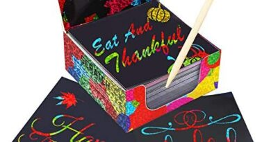 Jar Melo Scratch Art Glittery Notes;Rainbow Holographic Scratch Paper;130 Sheets; with 2 Wooden Stylus; Scratch Off Art Paper; Ideal Thanksgiving Gift