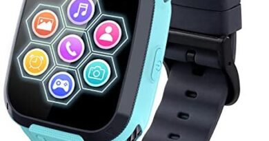 Kids Smart Watch for Boys Girls - Touch Screen Smartwatch with Phone Call SOS Music Player Alarm Camera Games for Christmas Birthday (Blue)
