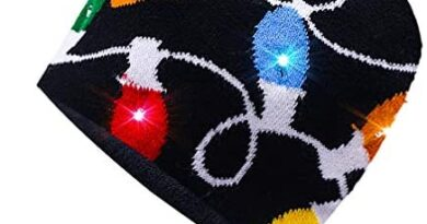 Luwint LED Glow Blink Knit Beanie Hat - Light Up Costume Show Prop Toy for Boys Girls Birthday Party Halloween Christmas with 2 More Batteries (Colorful)