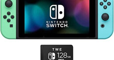 Nintendo Switch - Holiday Bundle Gift Set - Animal Crossing: New Horizons Edition 32GB Console - Bundle with TWE 128 GB Micro SD Card