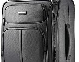 Samsonite Leverage LTE Softside Expandable Luggage with Spinner Wheels, Charcoal, Carry-On 20-Inch