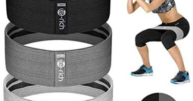 Te-Rich Resistance Bands for Legs and Butt, Fabric Women/Men Stretch Exercise Loops, Thick Wide Non-Slip Gym Bootie Band 3 Set for Squat Glute Hip Thigh Workout Training
