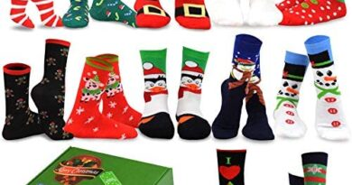 TeeHee Seasonal Holiday (Christmas) 12-Pair with Gift Box.