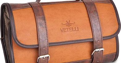 Vetelli Hanging Leather Toiletry Bag for Men - Our Leather Dopp Kit Is A Perfect Travel Accessory And Great Gift For The Special Person In Your Life