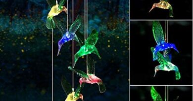 Wind Chime, Solar Hummingbird Wind Chimes Outdoor/Indoor(Gifts for mom/momgrandma Gifts/Birthday Gifts for mom) Outdoor Decor,Yard Decorations ,Memorial Wind Chimes,mom's Best Gifts