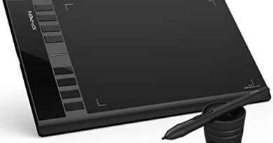 "XP-PEN Star03 V2 12"" Graphics Drawing Pen Tablet Drawing Tablet with 8192 Levels Pen Pressure Battery-Free Stylus Passive Pen Signature Board with 8 Hot Keys (Black)"
