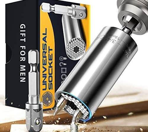 Universal Socket Gifts for Men Dad, Multi Tools Socket Set, Power Drill Adapter Socket Tool, Handy Cool Tools for Men, Gadgets Gifts for Men/Husband/Boyfriends/Women(7-19mm)